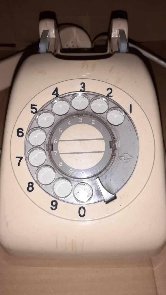 アンティーク電話機/日本電信電話公社601-A2 ダイアル式 /ジャンク品_画像4