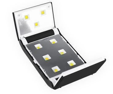 ネイルドライヤー LED UVライト ジェルネイルライト レジン用ライト36w UVレジン 硬化用 コンパクト 折りたたみ (white 白)_画像5