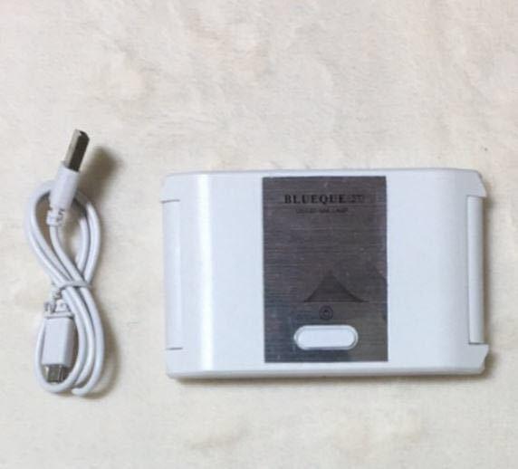 ネイルドライヤー LED UVライト ジェルネイルライト レジン用ライト36w UVレジン 硬化用 コンパクト 折りたたみ (white 白)_画像7