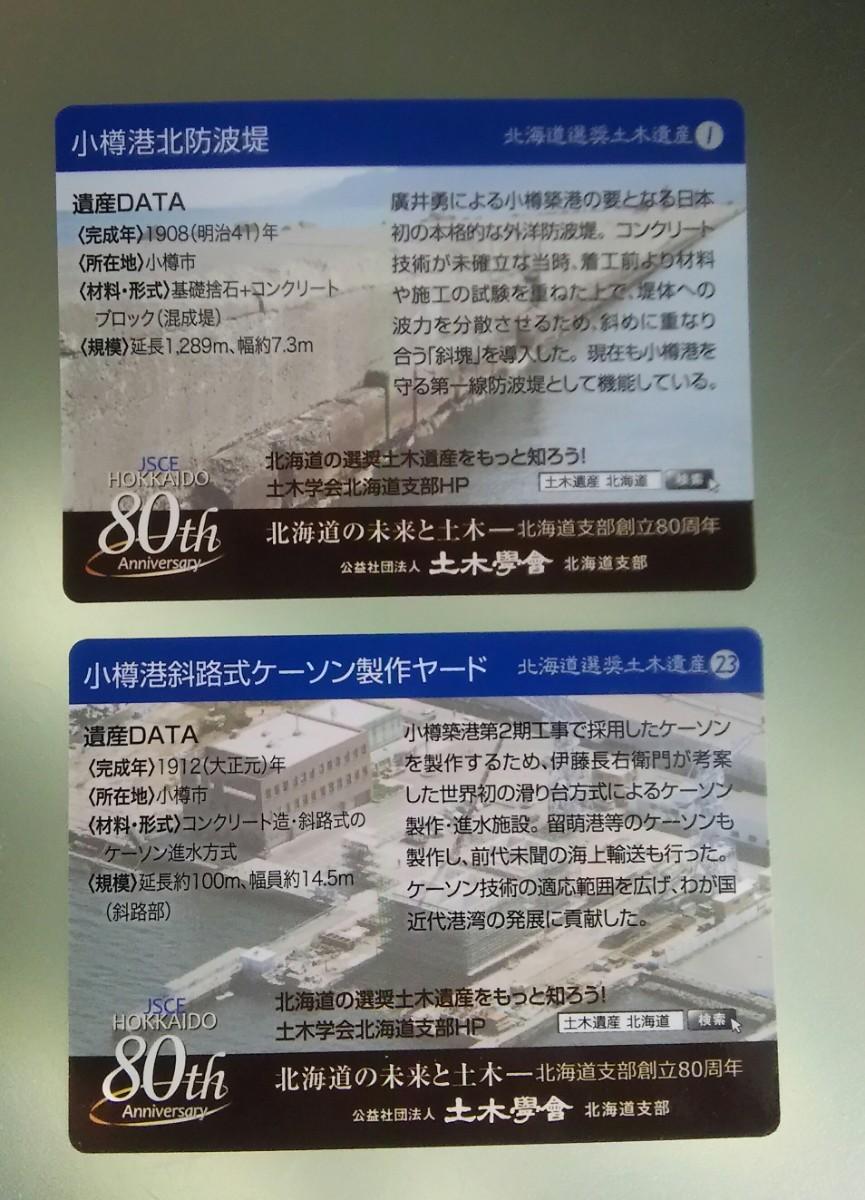 北海道選奨土木遺産カード 80th 2枚