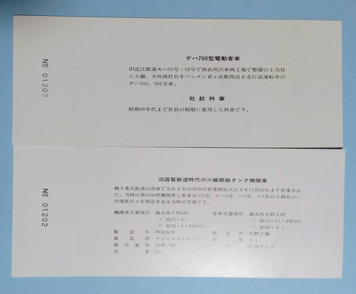デハ700型 入線記念乗車券_画像3