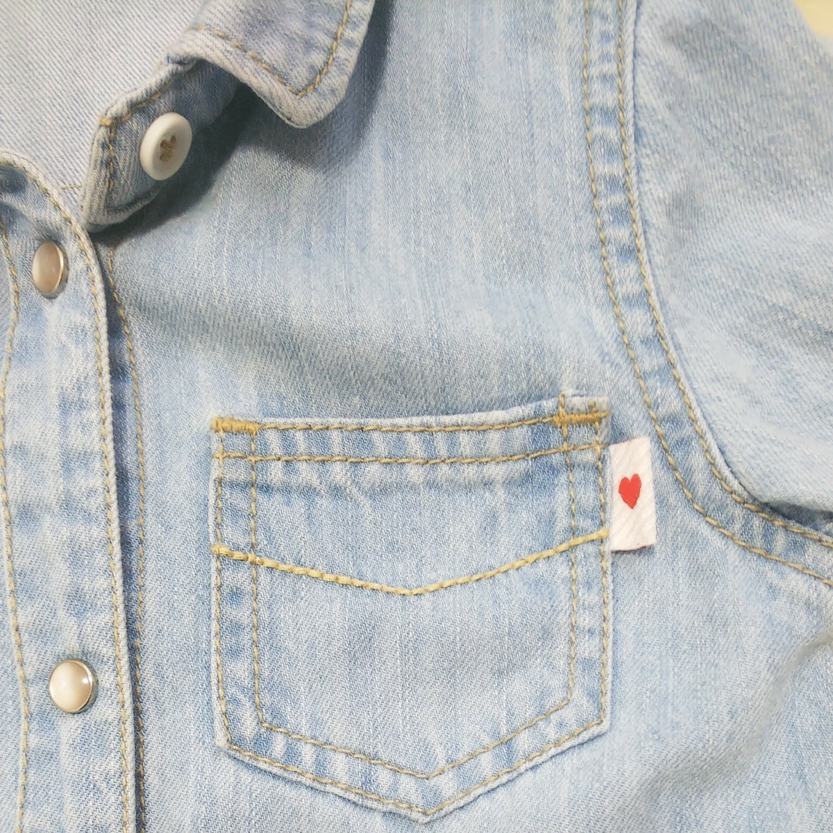 SLAP SLIP デニムロングシャツ ワンピース 90