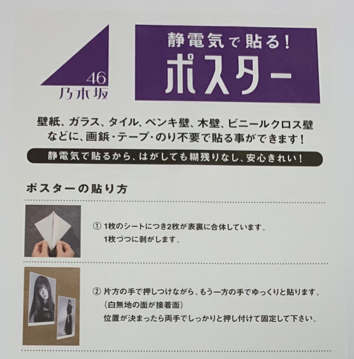 乃木坂46 個別A3静電気吸着ポスター 2枚セット モノクロームポートレイト 筒井あやめ 新品未開封品