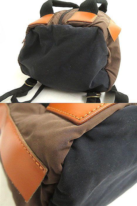 良品◎MARNI マルニ レザー使い 2WAY リュックサック/ミニボストンバッグ ブラウン 正規品 イタリア製 保存袋付き_画像7