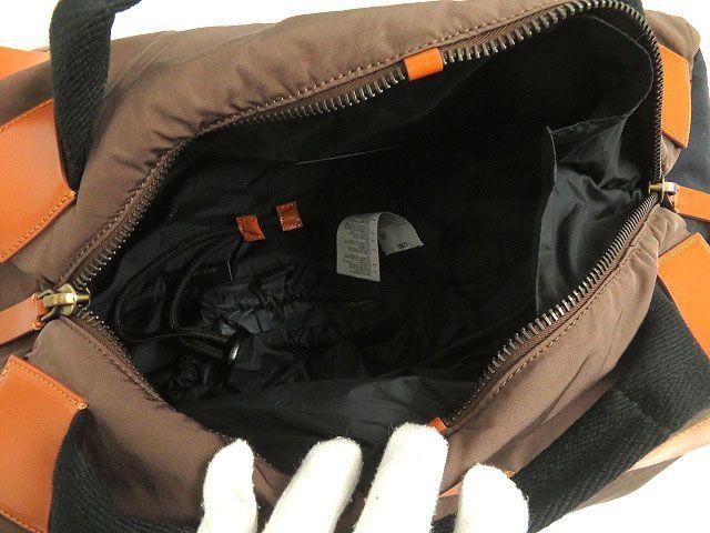 良品◎MARNI マルニ レザー使い 2WAY リュックサック/ミニボストンバッグ ブラウン 正規品 イタリア製 保存袋付き_画像5