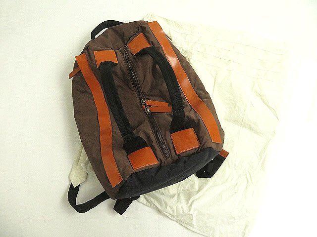 良品◎MARNI マルニ レザー使い 2WAY リュックサック/ミニボストンバッグ ブラウン 正規品 イタリア製 保存袋付き_画像2