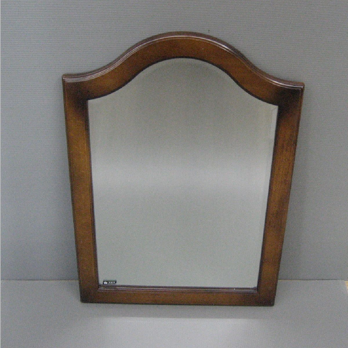 【茶々】カリモク壁掛けミラー ウォールミラー 木製_画像1