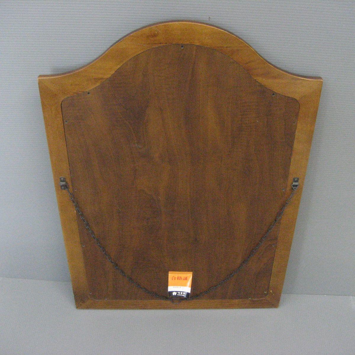 【茶々】カリモク壁掛けミラー ウォールミラー 木製_画像2