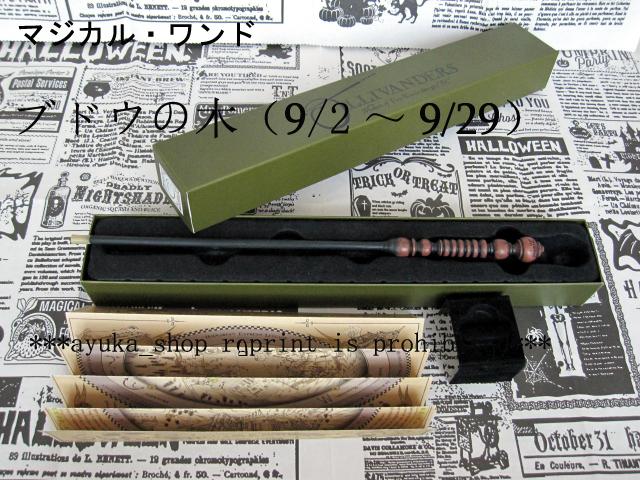 *USJ 公式 ハリーポッター 杖 誕生日杖 ブドウの木 9/2~9/29 マジカルワンド