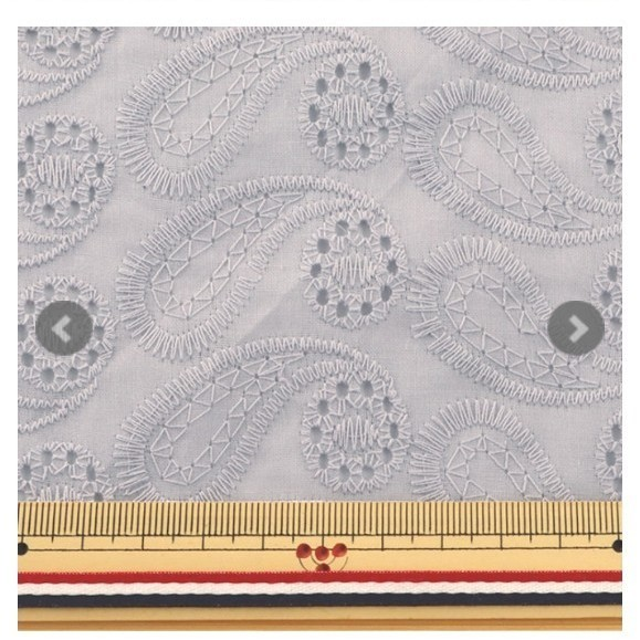 レース生地 ペイズリー セット アースカラー 22×25 刺繍 オーバーレース