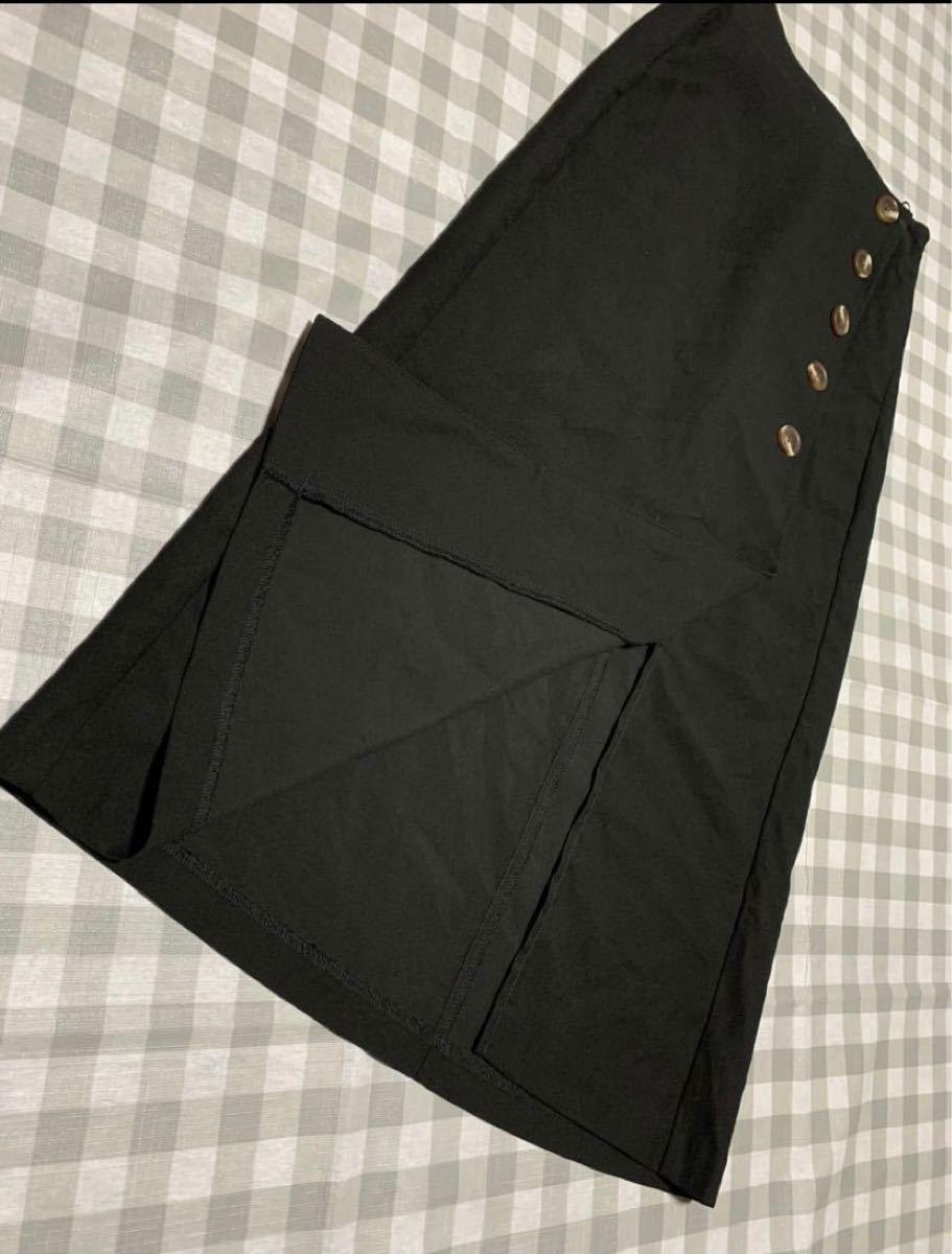 タイトスカート ブラック XS ロングスカート