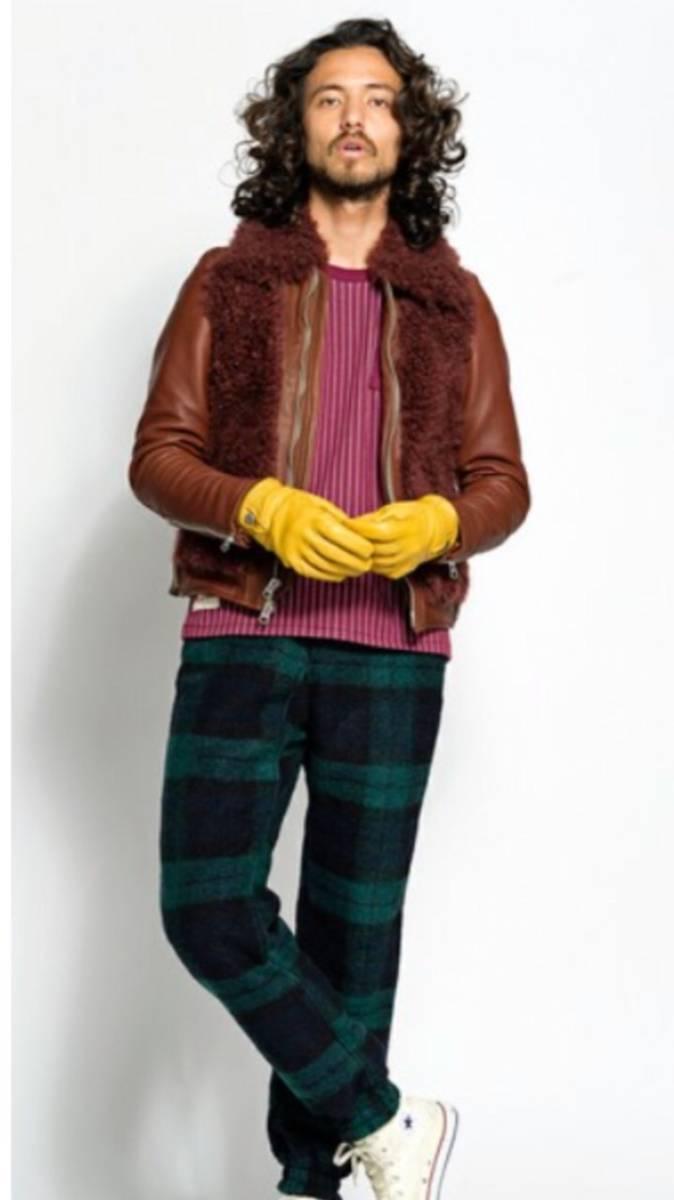 SEVESKIG セヴシグ Tシャツ カットソー パトリシオ パトリシオさん着用 レザーライダース インナー