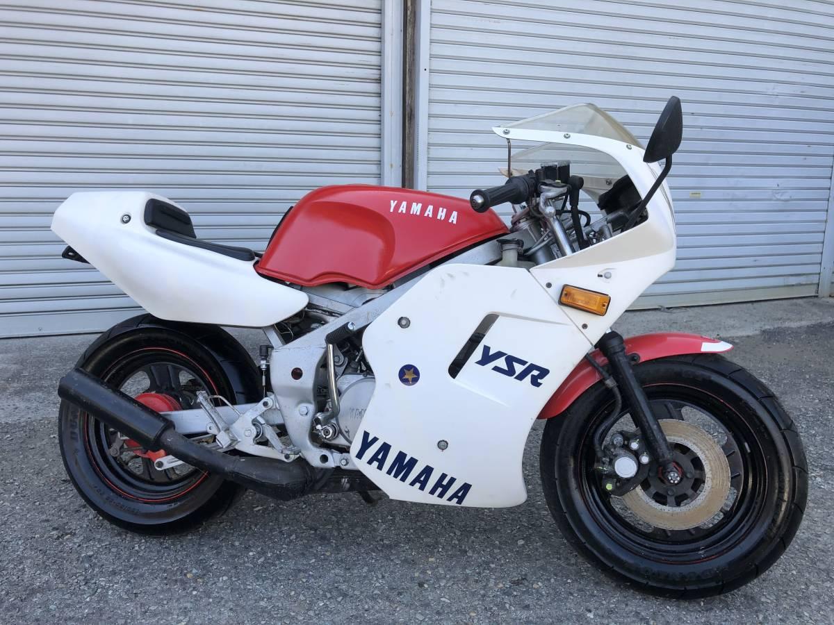 「YSR80 2GX フルカウル、タイヤいい感じ、書類、鍵付き レストアorメンテナンスベース車 」の画像2