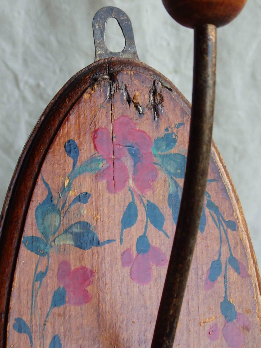 フランスアンティーク 壁掛け コートフック ハンガー 什器 ディスプレイ 雑貨 古木 木製 蚤の市 ウォール 帽子 フック 仏_画像5