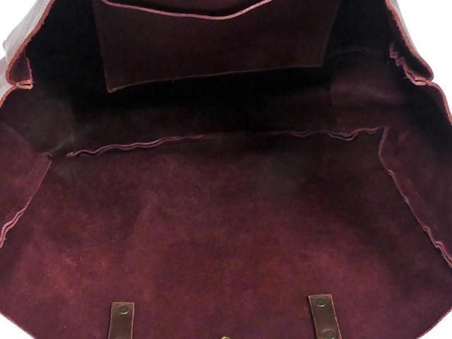 即決★N.B.★オールレザートートバッグ メンズ 赤 ワインレッド 本革 ハンドバッグ 本皮 かばん 通勤 カバン 鞄 レディース 手提げバッグ_画像8