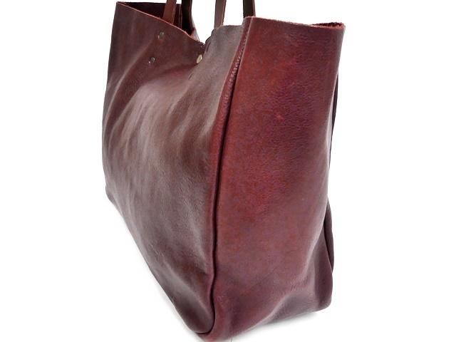 即決★N.B.★オールレザートートバッグ メンズ 赤 ワインレッド 本革 ハンドバッグ 本皮 かばん 通勤 カバン 鞄 レディース 手提げバッグ_画像5