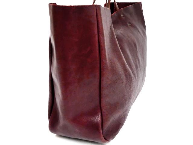 即決★N.B.★オールレザートートバッグ メンズ 赤 ワインレッド 本革 ハンドバッグ 本皮 かばん 通勤 カバン 鞄 レディース 手提げバッグ_画像4