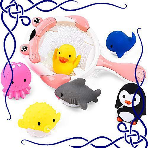 JoyGrow お風呂 おもちゃ 水遊びおもちゃ赤ちゃん 子供 シャワー かわいい 動物すくい 噴水 お風呂 魚網 アヒル クジラ_画像1
