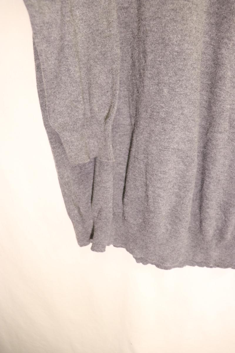 【メンズ】Abercrombie&Fitchニットセーター/アバクロ老舗アメカジグレイシンプルM_画像4