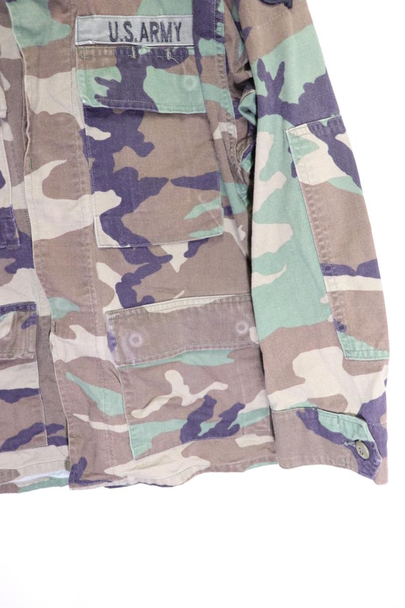 【メンズ】米軍ウッドランドミリタリージャケットAIR BORME/USAカモフラ良品ワッペン実物♪S_画像5