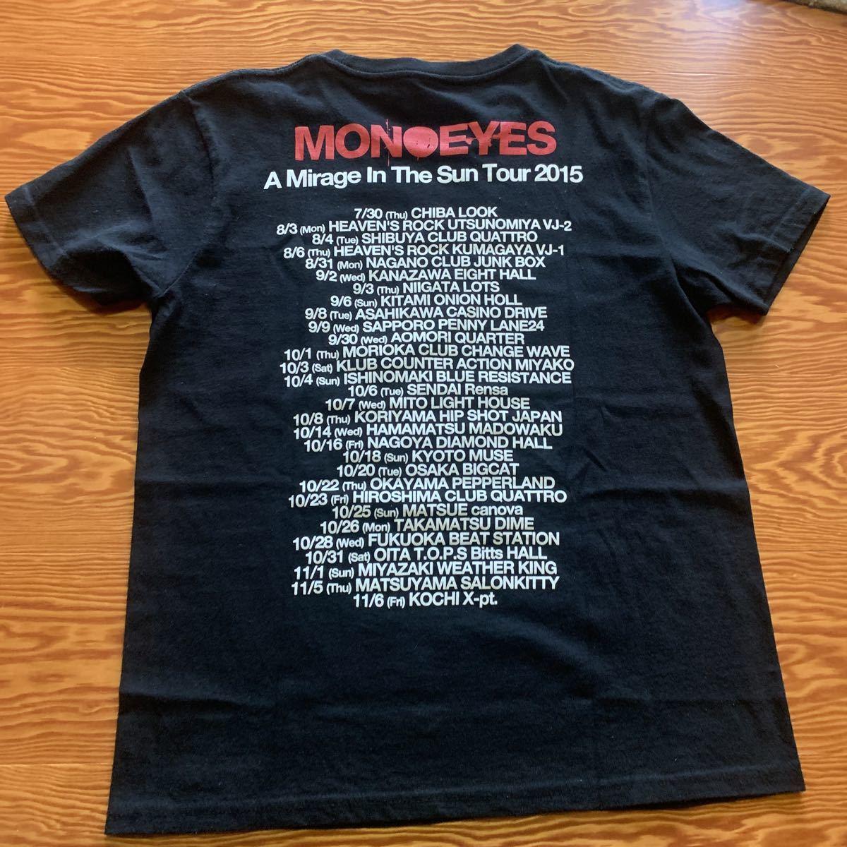 送料無料!美品!MONOEYES バンドロゴ入り Tシャツ メンズSサイズ ブラック バックプリントあり ELLEGARDEN