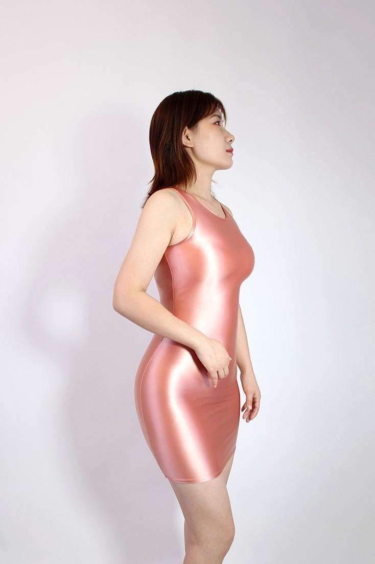 【2020秋最新作】コスプレ衣装 ワンピースドレス 伸縮性あり レースクイーンレオタード ピンク 2XLサイズ_画像1