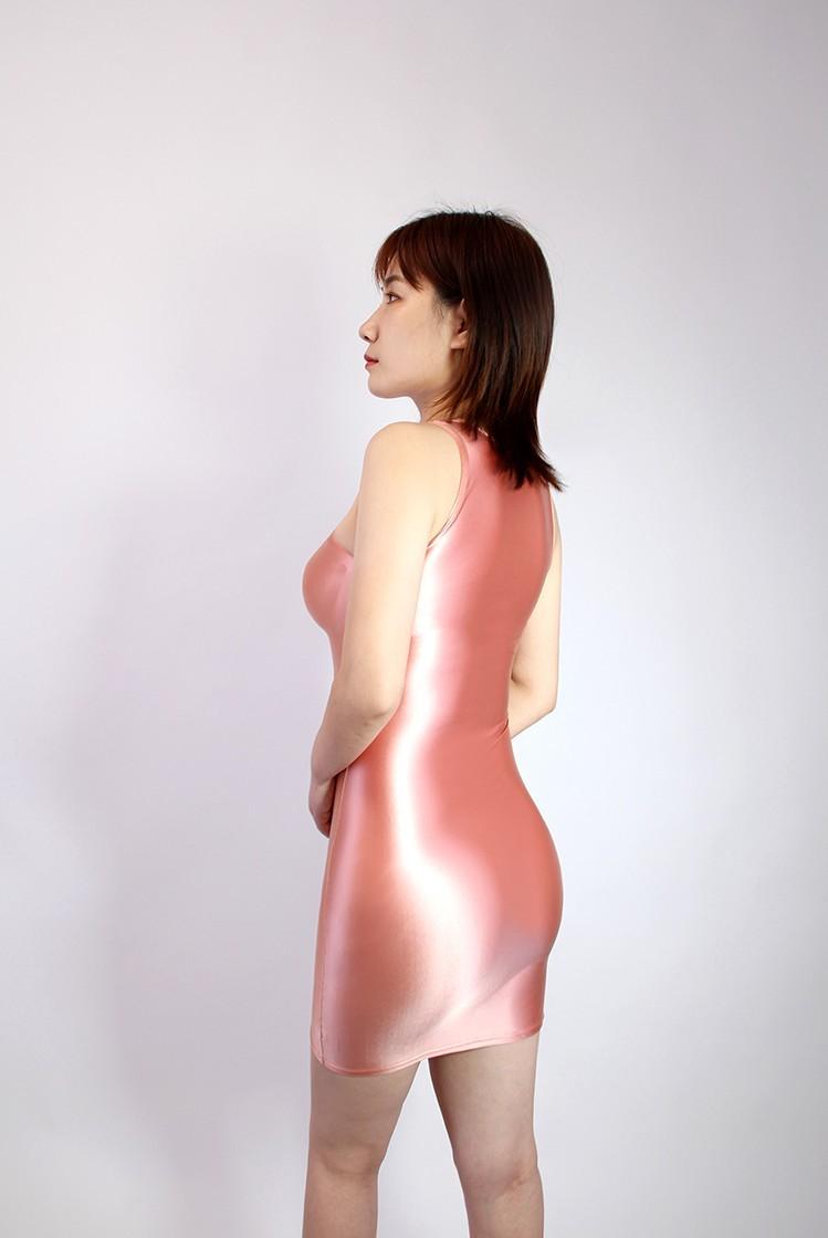 【2020秋最新作】コスプレ衣装 ワンピースドレス 伸縮性あり レースクイーンレオタード ピンク 3XLサイズ_画像4