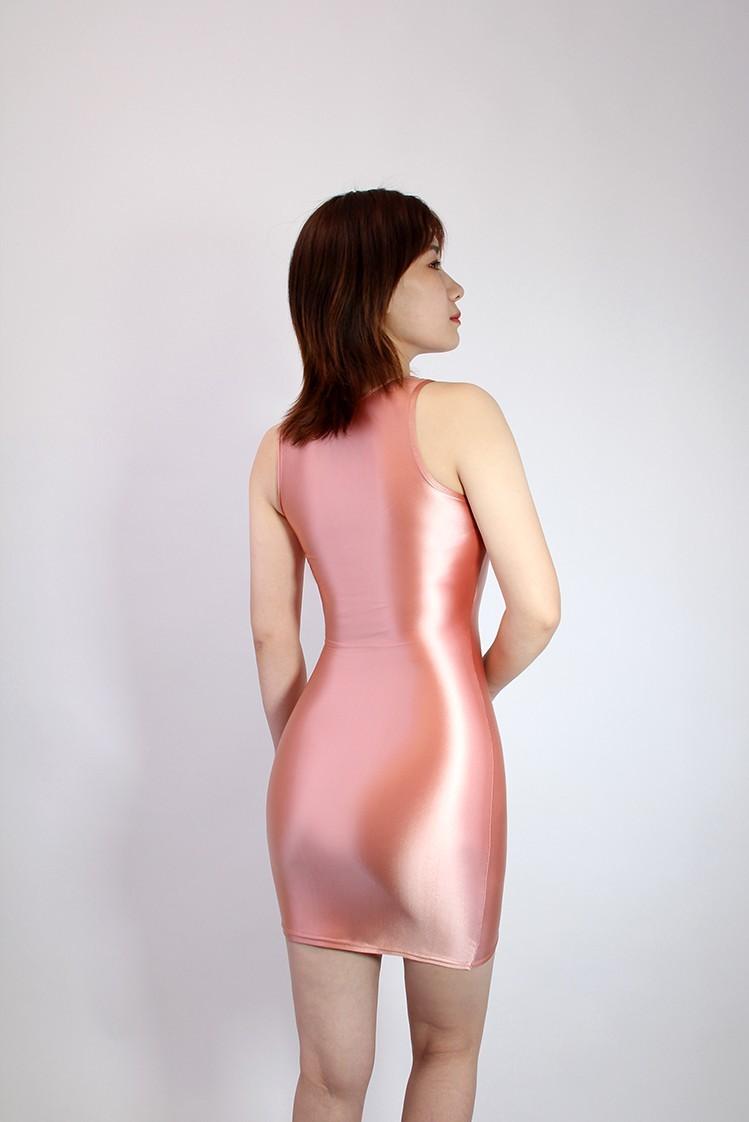 【2020秋最新作】コスプレ衣装 ワンピースドレス 伸縮性あり レースクイーンレオタード ピンク 2XLサイズ_画像2