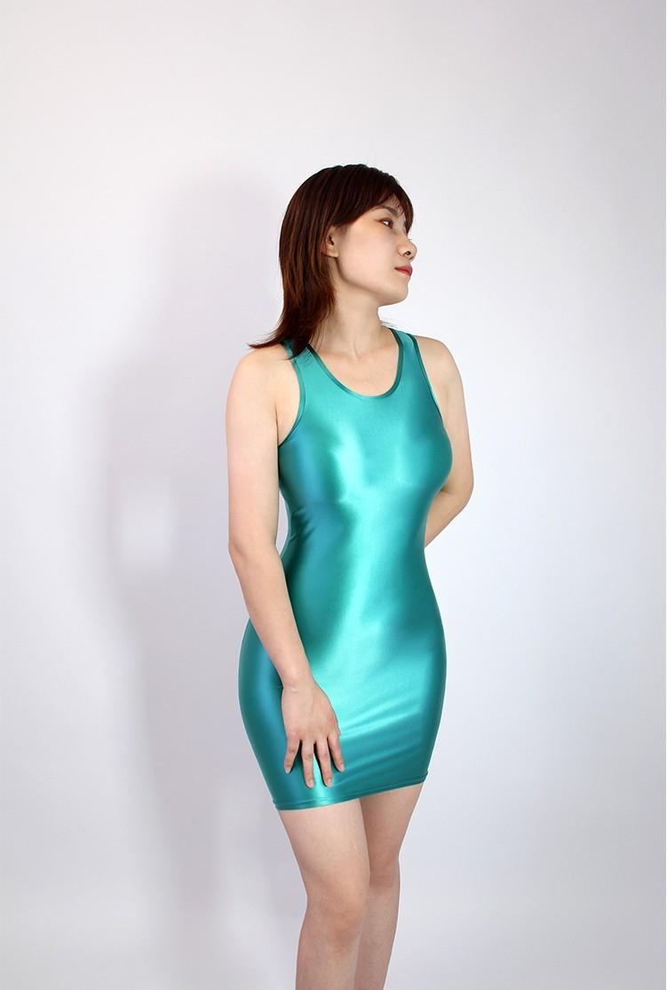 【2020秋最新作】コスプレ衣装 ワンピースドレス 伸縮性あり レースクイーンレオタード ブルー Mサイズ_画像1