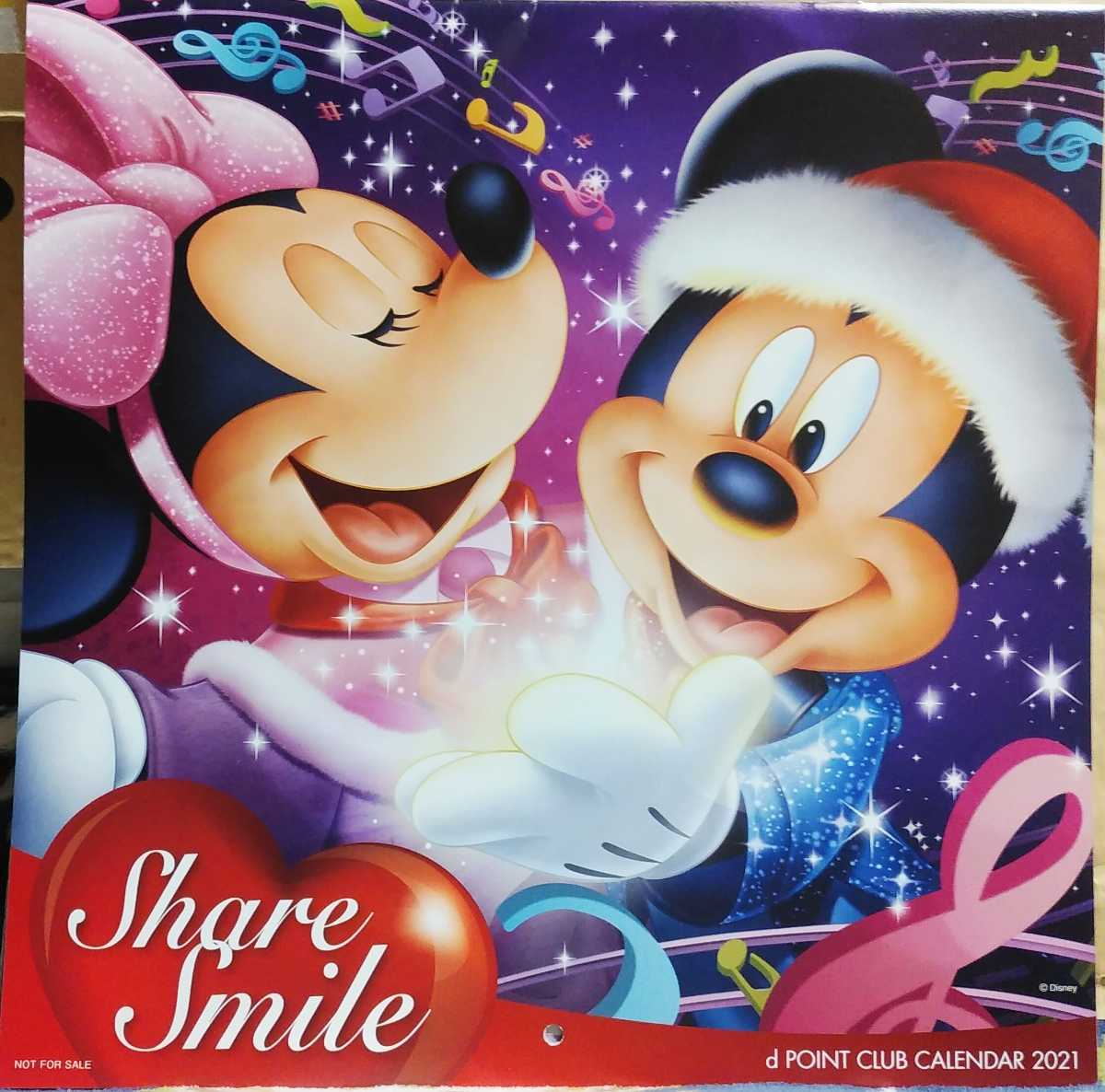 ディズニー カレンダー 2021 壁掛け ミッキーマウス_画像1
