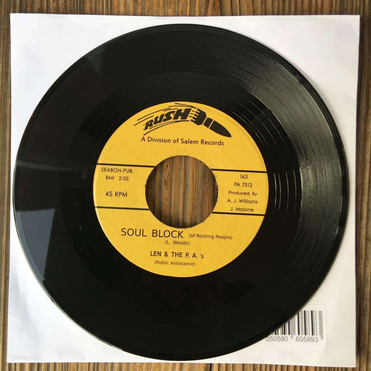 【送料無料!新品7inch!Killer Female Funk!】Len & The P.A.'s (Public Assistance) - Soul Block (Of Rocking People) / Believe Me