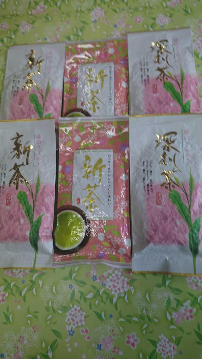静岡県産 深蒸し茶 飲み比べ100g6袋 健康茶 日本茶 緑茶 静岡茶 お茶_画像1