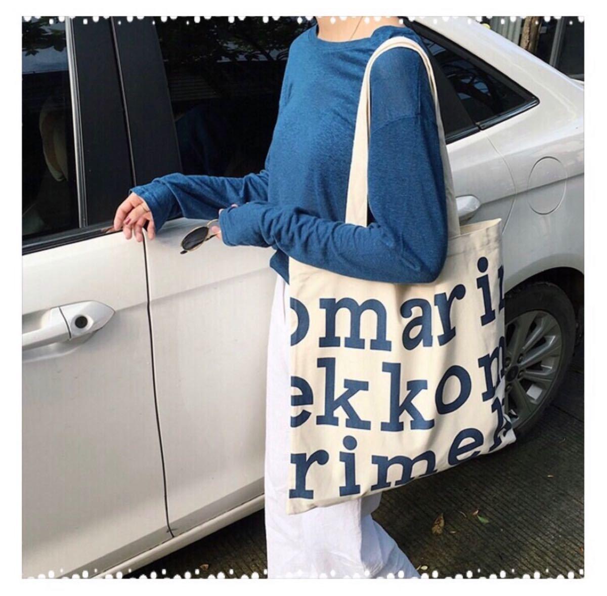 ☆大人気☆数量限定☆新品未使用 マリメッコ ロゴ トートバッグ/エコバッグ