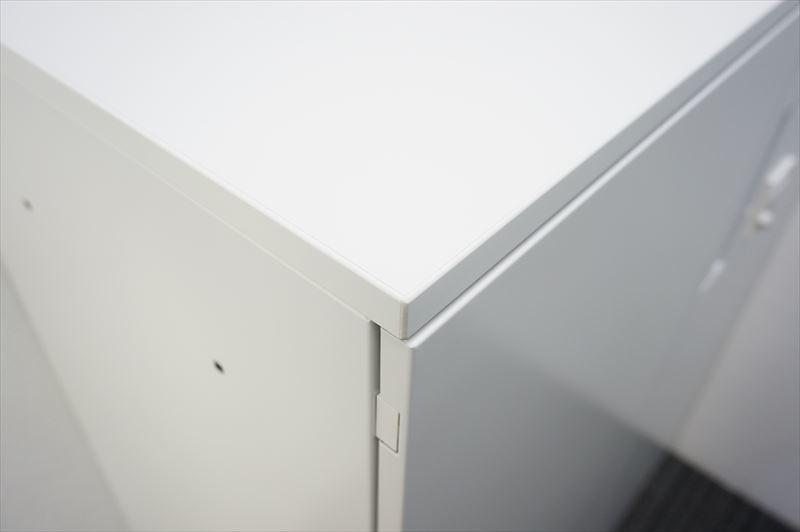 【大量在庫】【中古】コクヨ エディア ダイヤル式両開き書庫 天板付 H1130 ホワイト_画像4