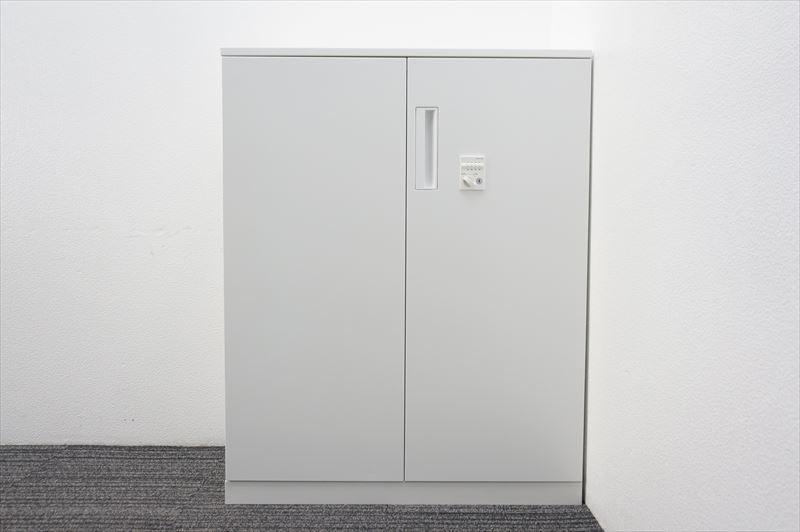 【大量在庫】【中古】コクヨ エディア ダイヤル式両開き書庫 天板付 H1130 ホワイト_画像9