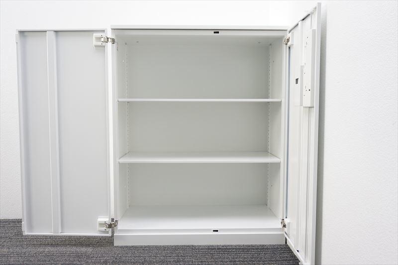 【大量在庫】【中古】コクヨ エディア ダイヤル式両開き書庫 天板付 H1130 ホワイト_画像8