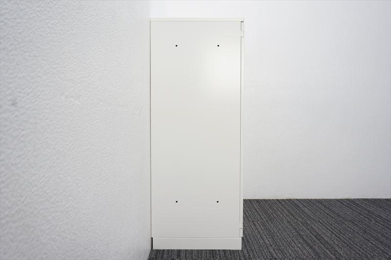 【大量在庫】【中古】コクヨ エディア ダイヤル式両開き書庫 天板付 H1130 ホワイト_画像2