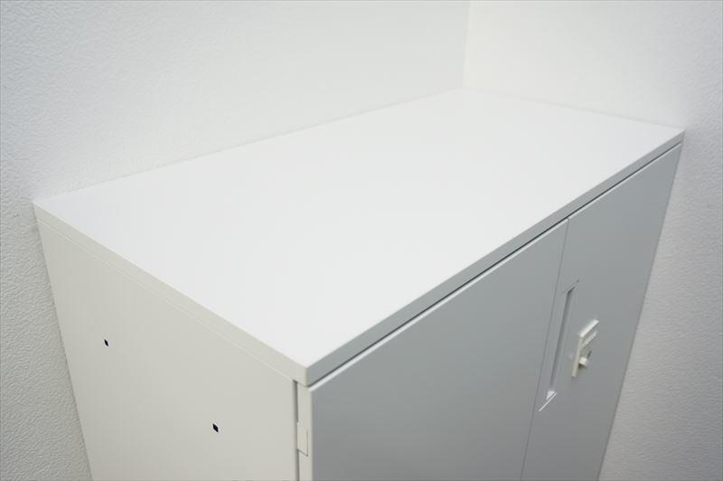 【大量在庫】【中古】コクヨ エディア ダイヤル式両開き書庫 天板付 H1130 ホワイト_画像3