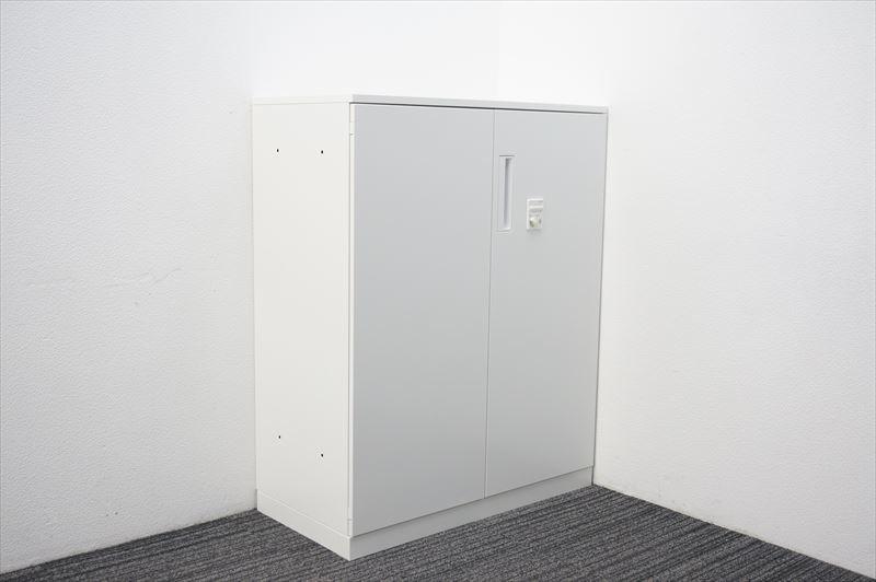 【大量在庫】【中古】コクヨ エディア ダイヤル式両開き書庫 天板付 H1130 ホワイト_画像1
