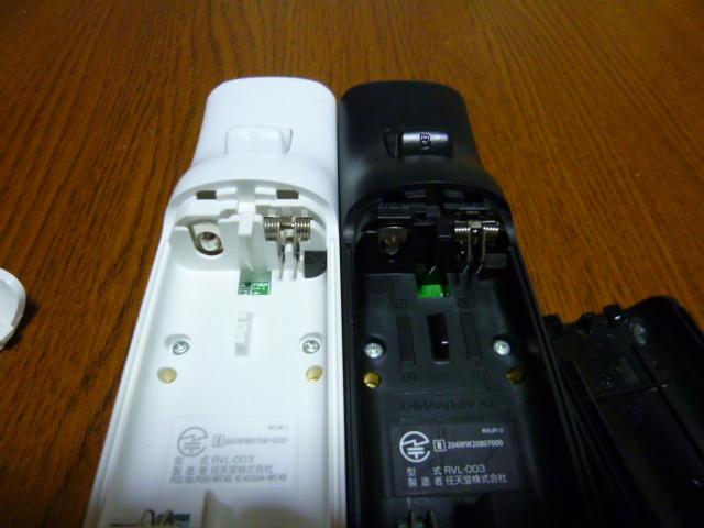 R036【送料無料】Wii リモコン 2個セット ホワイト ブラック(動作良好 クリーニング済)白 黒 NINTENDO 任天堂 純正