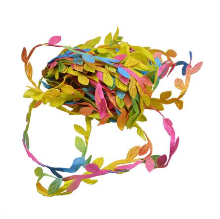2B2664:造花 シルクフラワー 人工緑の葉 結婚式の装飾 10メートルの絹の葉 手作り DIY リースギフト スクラップブッキングクラフト_マルチカラー