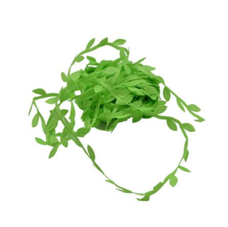 2B2664:造花 シルクフラワー 人工緑の葉 結婚式の装飾 10メートルの絹の葉 手作り DIY リースギフト スクラップブッキングクラフト_ライトグリーン