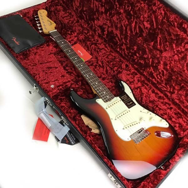 e)1円スタート!フェンダー Fender USA ストラトキャスター AM ORIG 60S STAT RW 3TSB シリアルNo.V1969528 ※未使用品 製品保証書・他有り