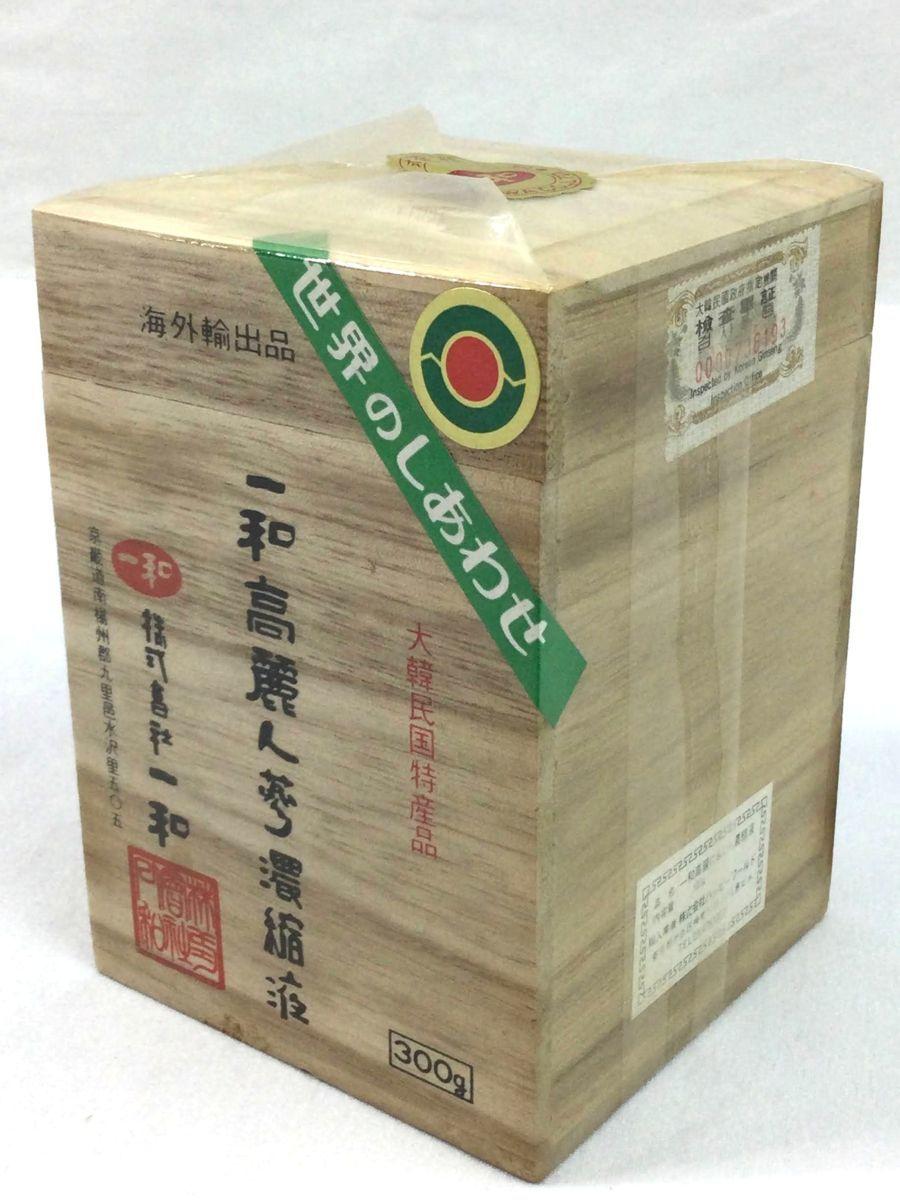 一和 高麗人参濃縮液 300g 大韓民国特産品 長期保管品 未開封 未使用 複数購入も可能 o744_画像2