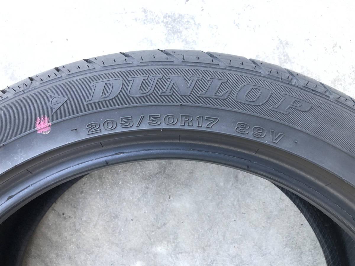 激安中古タイヤ単品 2016年製造 ダンロップ  SP SPORT 2050 205/50R17  1本 バリ溝 _画像4