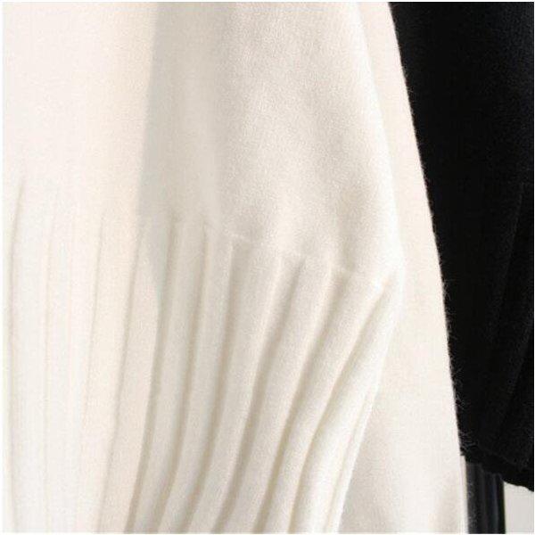 ニットセーター 2020ニット リブニット タートルネック レディーストップス 長袖 カットソー ショート丈セーター プルオーバー 柔らか