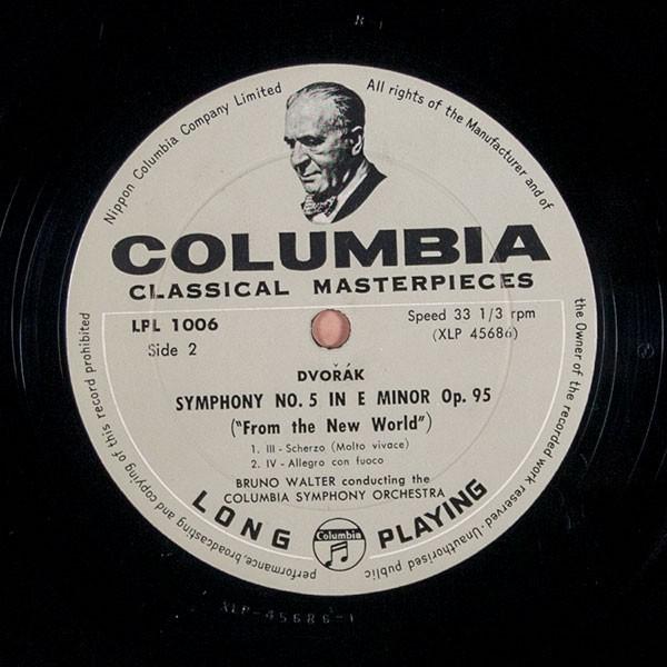 Colu LPL-1006 ドヴォルザーク: 交響曲 第5番「新世界より」 ワルター指揮 コロムビア交響楽団【ペラジャケ】 _画像6