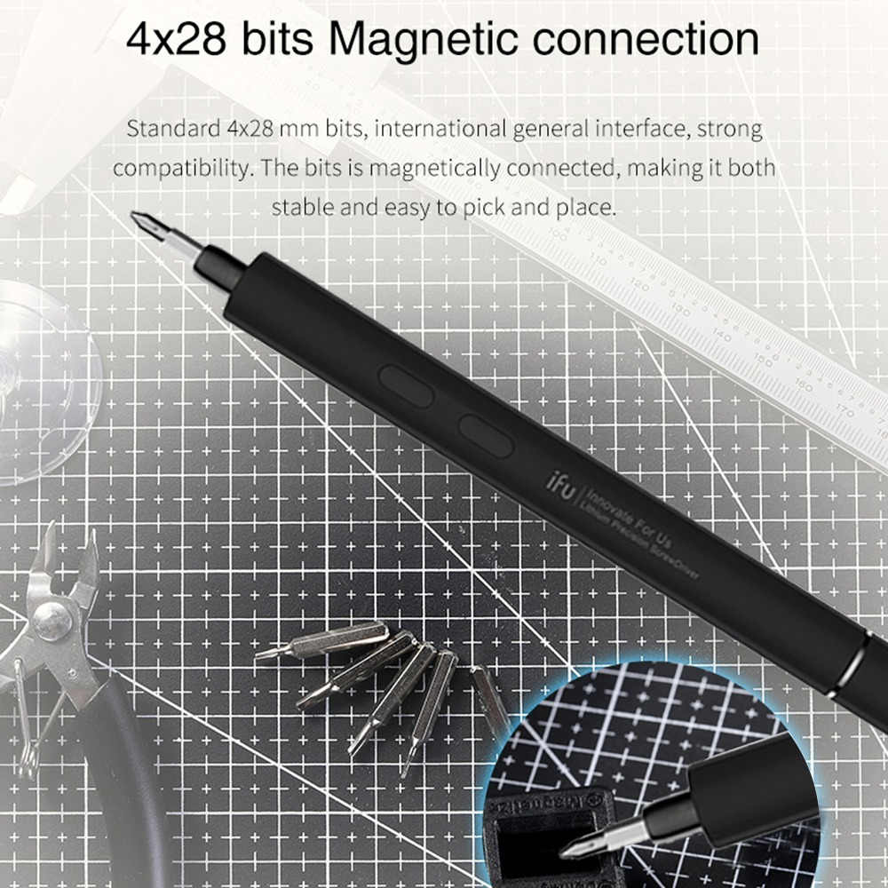 新品● ペン型 精密 ミニ電動ドライバー 充電式 リチウム電池式 コードレス モーター駆動式 ワンタッチ操作 LED キット_画像5