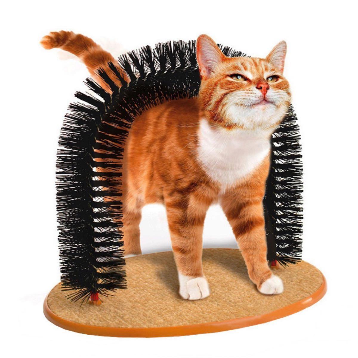 猫 ブラシ 痒み止め ペット用品 毛づくろい マッサージ アーチ  ねこ ネコ