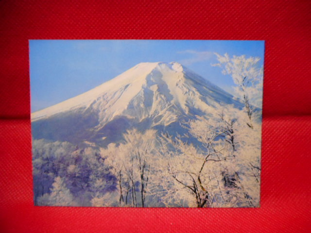 """未使用品 昔の絵葉書 """"富士の美""""  富士山の絵葉書 7枚_画像3"""